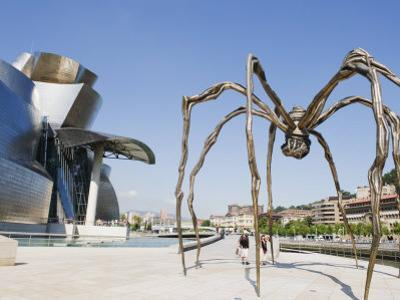 The Guggenheim, Designed by Architect Frank Gehry, and Giant Spider Sculpture by Louise Bourgeois by Christian Kober