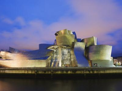 The Guggenheim, Designed by Canadian-American Architect Frank Gehry, on the Nervion River by Christian Kober