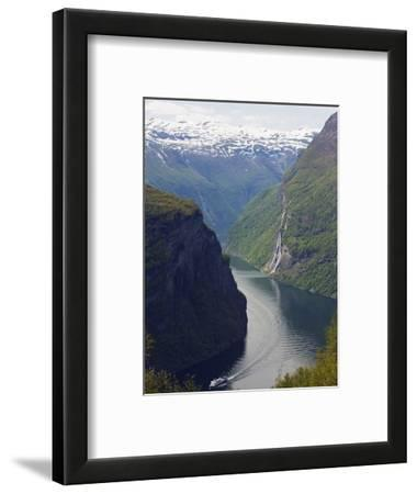 Tourist Cruise Ship on Geiranger Fjord, Western Fjords, Norway, Scandinavia, Europe