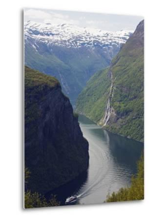 Tourist Cruise Ship on Geiranger Fjord, Western Fjords, Norway, Scandinavia, Europe