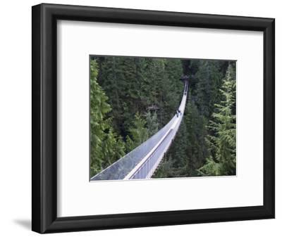 Tourists in Capilano Suspension Bridge and Park, Vancouver, British Columbia, Canada