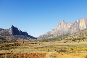 Tsaranoro Valley and Chameleon Peak, Ambalavao, central area, Madagascar, Africa by Christian Kober