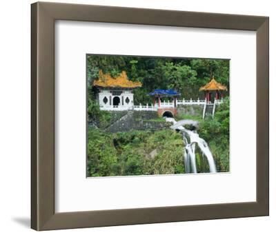 Waterfall, Changshun Tzu Water Temple, Taroko Gorge National Park, Taiwan, China