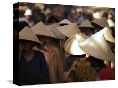 Women Wearing Conical Hats, Binh Tay Market, Ho Chi Minh City (Saigon), Vietnam