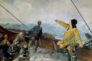 Leiv Eiriksson Discovers America by Christian Krohg