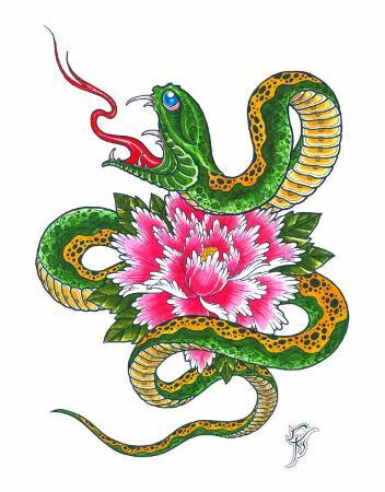 christian-nguyen-snake-and-flower
