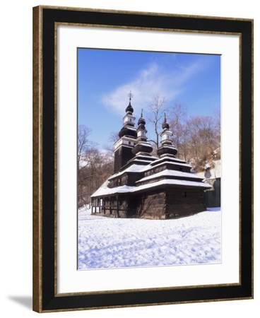 Christian Orthodox Wooden Church of St. Michael from the 18th Century, Prague, Czech Republic-Richard Nebesky-Framed Photographic Print