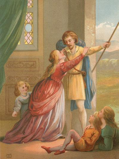 Christian Parting from His Family, before Proceeding in His Pilgrimage--Giclee Print