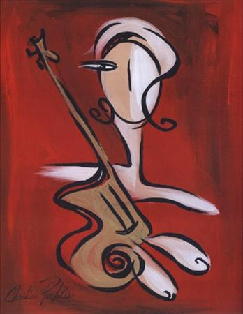 Woman with Guitar by Christian Pavlakis