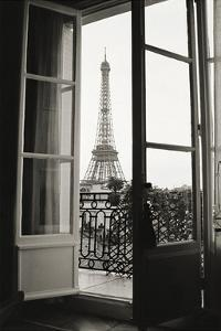 Eiffel Tower through French Doors by Christian Peacock