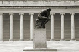 Rodin's Thinker in Profile by Christian Peacock