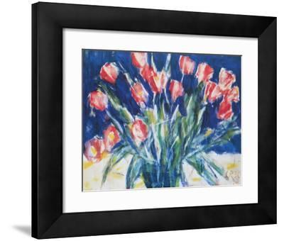 Red Tulips on Blue, 1930