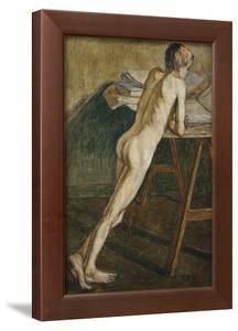 Stehender Knabenakt (Knabenakt), 1907 by Christian Rohlfs