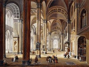 The Interior of a Renaissance Cathedral by Christian Stocklin
