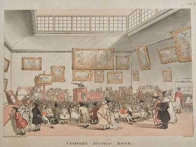 Christie's Auction Room, 1808- Rowlandson & Pugin-Giclee Print
