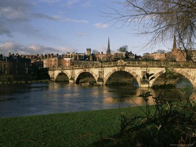 English Bridge, Shrewsbury, Shropshire, England, United Kingdom