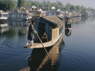 Houseboats on the Lake at Srinagar, Kashmir, Jammu and Kashmir State, India