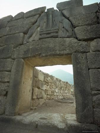 Lion Gate, Mycenae, Unesco World Heritage Site, Greece, Europe