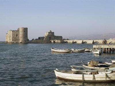 The 13th Century Crusader Castle, Sidon, Lebanon, Middle East