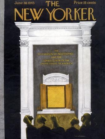The New Yorker Cover - June 30, 1945 by Christina Malman