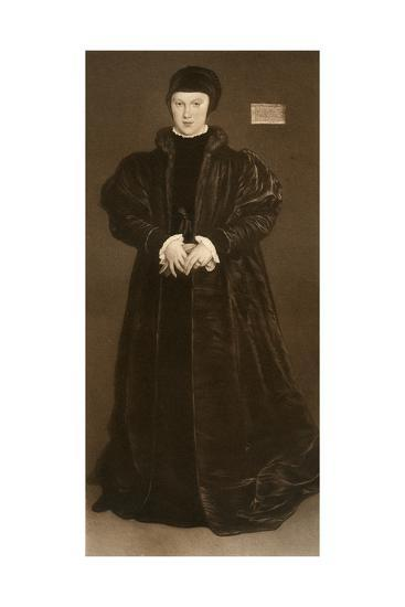 Christina of Denmark, Duchess of Milan, 1538-Hans Holbein the Younger-Giclee Print
