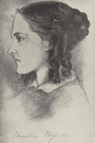 Christina Rossetti, English Poet-Dante Gabriel Rossetti-Giclee Print