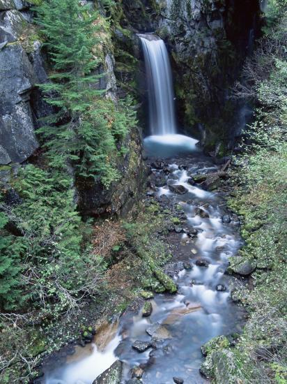 Christine Falls, Mount Rainier National Park, Washington State-Colin Brynn-Photographic Print