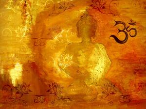 Buddha -Om I by Christine Ganz