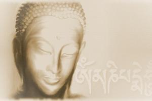 Buddha- Om mani padme hum by Christine Ganz