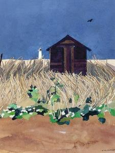 Walberswick Hut and Southwold Lighthouse, Suffolk by Christine McKechnie