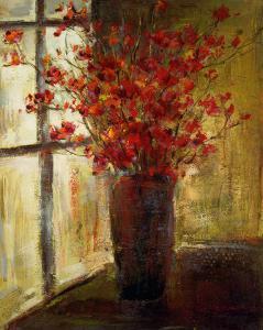 Vase of Red Flowers by Christine Stewart
