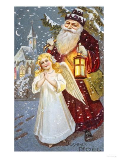 Christmas Angel--Giclee Print