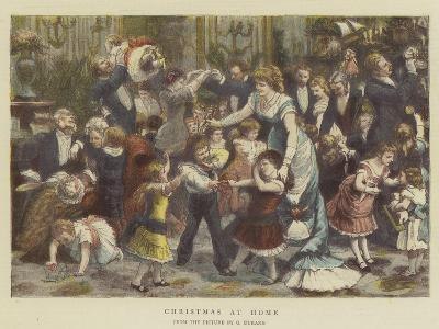 Christmas at Home-Godefroy Durand-Giclee Print