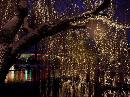 Christmas at Tivoli Where Holiday Lights Brighten the Long Winter Night-Keenpress-Photographic Print