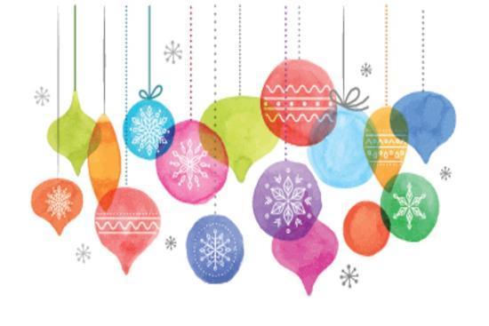 Christmas Backgound with Christmas Balls, Watercolor Vibrant Colors Christmas Decoration, Merry Chr-Marish-Art Print