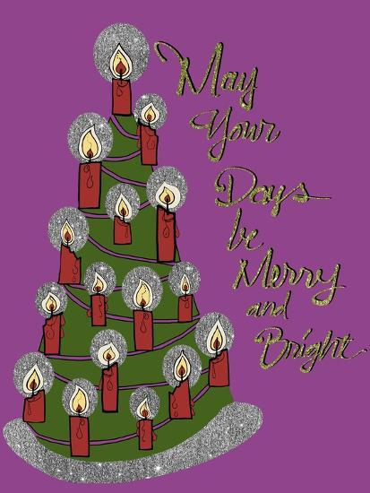 Christmas Candle Tree-Cyndi Lou-Giclee Print