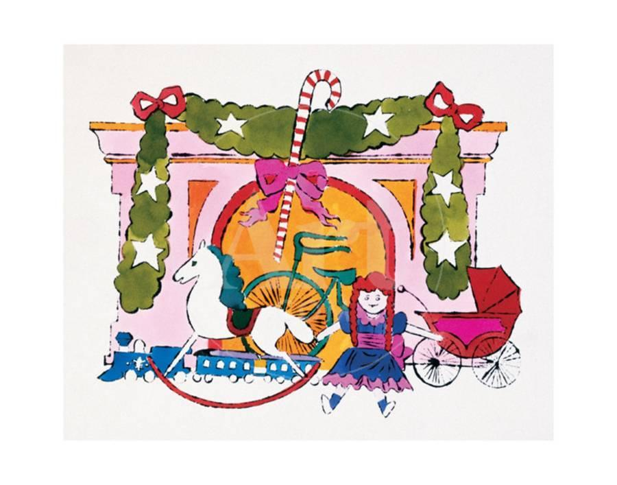 Christmas Card, c.1958 Art Print by Andy Warhol | Art.com