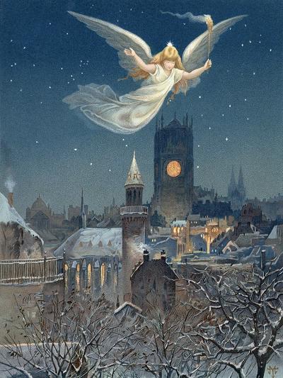 Christmas Card Designed by Thomas Moran, 1885--Giclee Print