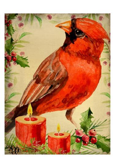 Christmas Cardinal-Kimberly Allen-Art Print