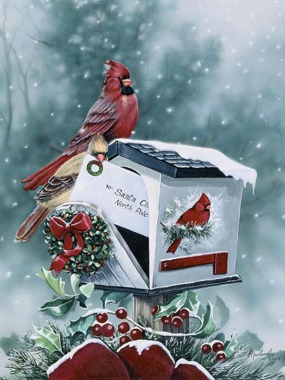 Christmas Cardinals Images.Christmas Cardinals Giclee Print By Jenny Newland Art Com