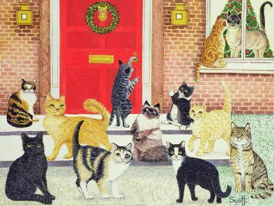 Christmas Carols-Pat Scott-Giclee Print