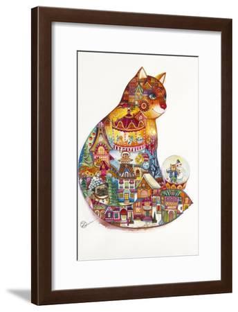 Christmas Cat-Oxana Zaika-Framed Giclee Print