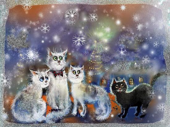 Christmas Cats-RUNA-Giclee Print