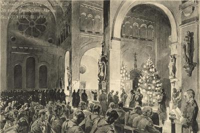 Christmas Celebrations in Flanders Church--Giclee Print
