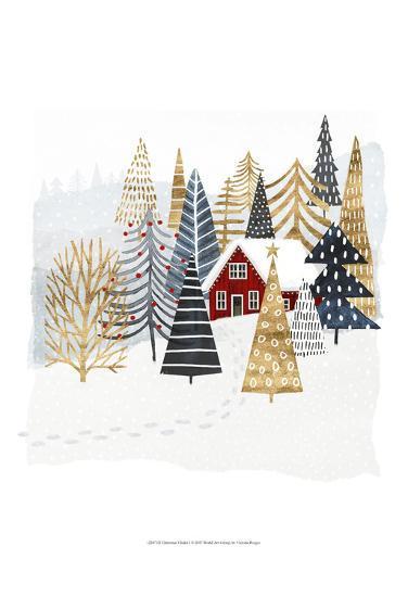 Christmas Chalet I-Victoria Borges-Art Print