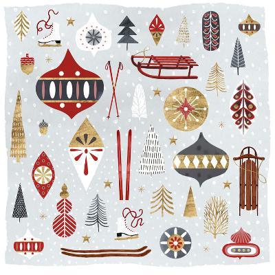 Christmas Chalet IV-Victoria Borges-Art Print