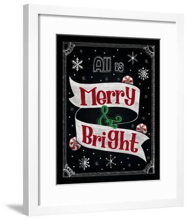 Christmas Chalkboard II-Elyse DeNeige-Framed Art Print