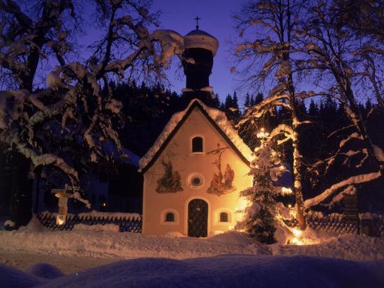 Christmas Chapel Model, Bavaria, Germany-David Ball-Photographic Print