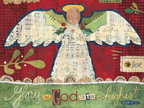 Christmas Collage 3-Holli Conger-Giclee Print