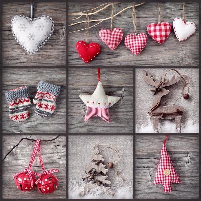 Christmas Collage-egal-Art Print